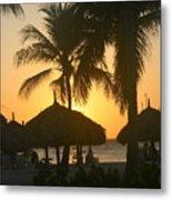 Cabana Sunset Metal Print