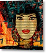 Cabaret Girl Metal Print