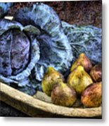 Cabbage And Figs Metal Print by Sari Sauls
