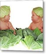 Cabbage Kids Metal Print