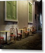 Cabildo Alley Tables Metal Print