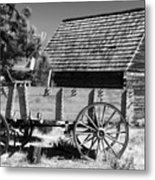 Cabin And Wagon Metal Print