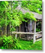 Cabin At The Top Mt Leconte Metal Print