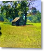Cabin At Valley Forge Metal Print