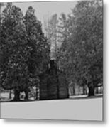Cabin Between The Cedars Metal Print