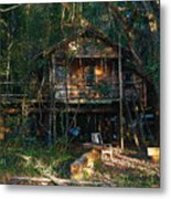 Cabin Fever Watercolor Metal Print