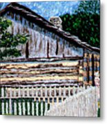 Cabin In Knife Metal Print