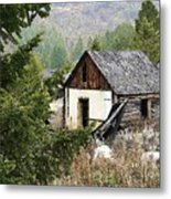 Cabin In Need Of Repair Metal Print