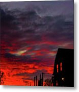 Cabin In The Shadows Metal Print