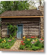 Cabin In The Tulip Patch Metal Print