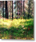 Cabin In The Woods In Menashe Forest Metal Print