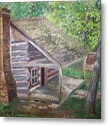 Cabin In The Woods Metal Print by Ron Bowles