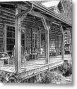 Cabin On The Hill Metal Print