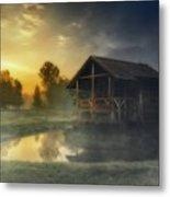 Cabin Sunrise Metal Print