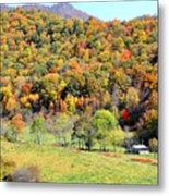 Cabin Surrounded By Color Metal Print