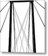 Cable Bridge Abstract Metal Print