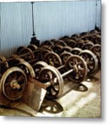 Cable Car Wheels, Repair Shop Metal Print
