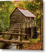 Cable Mill Cades Cove Smoky Mountains Tennessee In Autumn Metal Print