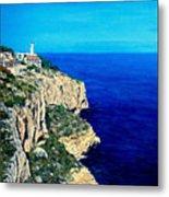 Cabo La Nao Lighthouse Javea Spain Metal Print