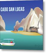 Cabo San Lucas Mexico Horizontal Scene Metal Print