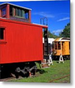 Caboose At Shelburne Trolley Museum Metal Print