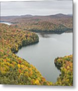 Cabot Vermont Nichols Pond Autumn Metal Print