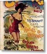Cabourg - Paris - Grand Hotel - Vintage Restaurant Advertising Poster Metal Print