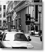 Cabs In The City Metal Print