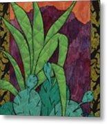 Cactus Lizards Metal Print