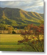 Cades Cove Autumn Sunset In Great Smoky Mountains Metal Print