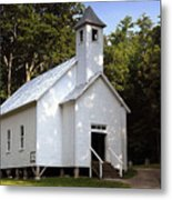 Cades Cove Baptist Church Metal Print