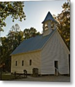 Cades Cove Methodist Church Aglow Metal Print