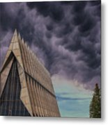 Cadet Chapel At The United States Air Force Academy Metal Print
