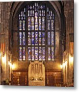 Cadet Chapel With Stained Glass Windows Metal Print