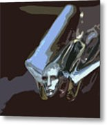 1949 Cadillac Hood Ornament Metal Print