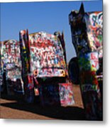 Cadillac Ranch On Route 66 Metal Print