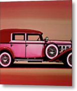 Cadillac V16 Mixed Media Metal Print