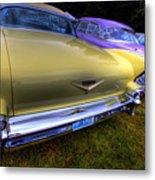 Cadillacs All In A Row Metal Print