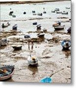 Cadiz Spain Low Tide Metal Print