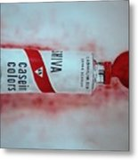 Cadmium Red Metal Print