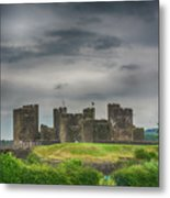 Caerphilly Castle East View 3 Metal Print