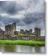 Caerphilly Castle North View 3 Metal Print