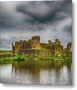 Caerphilly Castle South East View 1 Metal Print