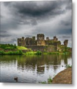 Caerphilly Castle South East View 2 Metal Print