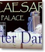 Caesars Palace After Dark Metal Print