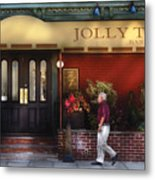 Cafe - Jolly Trolley Metal Print
