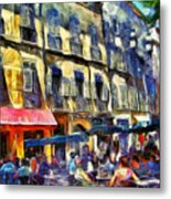 Cafe 2 Provence Metal Print