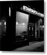 Cafe At Night  Metal Print