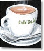 Cafe Au Lait Metal Print