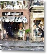 Cafe Beignet Summer Day Metal Print